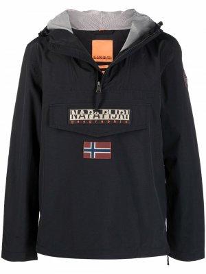 Анорак с логотипом Napapijri. Цвет: черный