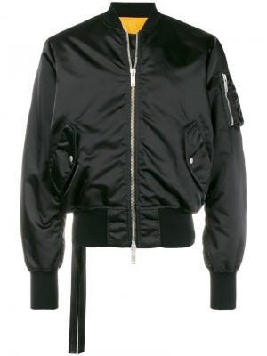 Классическая куртка-бомбер Unravel Project. Цвет: черный