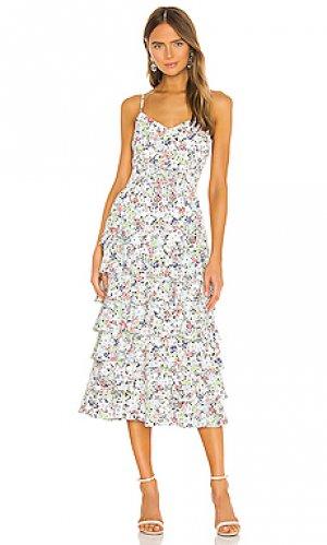 Платье миди ariella LIKELY. Цвет: белый