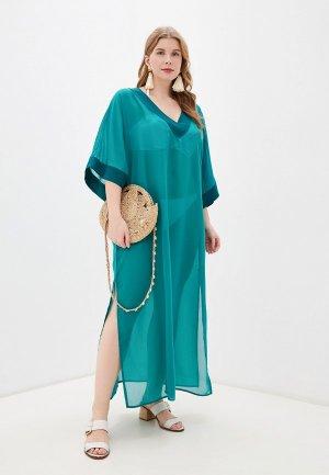 Платье пляжное Donatello Viorano. Цвет: зеленый