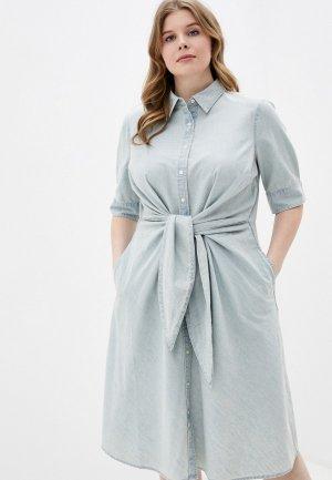 Платье джинсовое Lauren Ralph Woman. Цвет: голубой