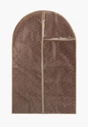 Чехол для одежды El Casa. Цвет: коричневый