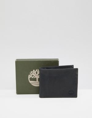 Черный бумажник Grafton Timberland. Цвет: черный