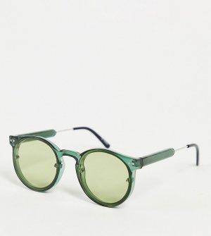 Солнцезащитные очки в стиле унисекс оправе оливково-зеленого цвета с линзами тон Post Punk – эксклюзивно для ASOS-Зеленый цвет Spitfire