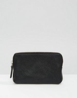 Кожаный кошелек для монет Royal Republiq Fuze. Цвет: черный
