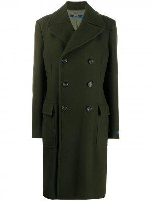 Однобортное пальто Polo Ralph Lauren. Цвет: зеленый