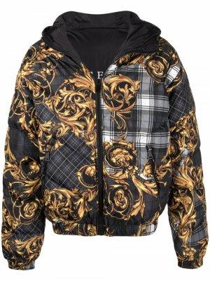 Куртка с принтом Versace Jeans Couture. Цвет: черный