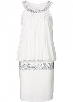 Коктейльное платье bonprix. Цвет: белый