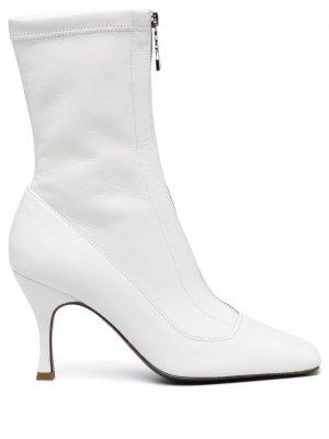 Ботильоны с квадратным носком Patrizia Pepe. Цвет: белый