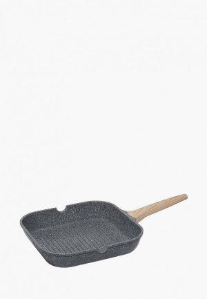 Сковорода Nadoba MINERALICA гриль. Цвет: серый