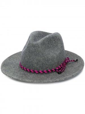 Шляпа-федора с веревочным декором Paul Smith. Цвет: серый