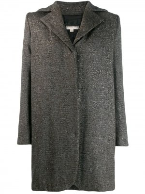 Структурированное пальто оверсайз 1990-х годов Romeo Gigli Pre-Owned. Цвет: серый