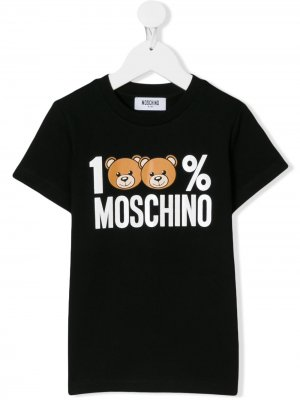 Toy Bear T.shirt Moschino Kids. Цвет: черный