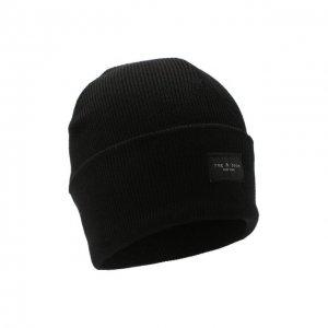 Шерстяная шапка Rag&Bone. Цвет: чёрный