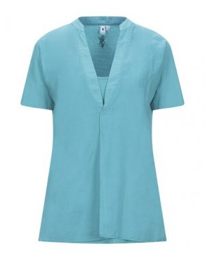 Блузка EUROPEAN CULTURE. Цвет: бирюзовый