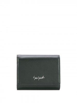 Складной кошелек с логотипом Discord Yohji Yamamoto. Цвет: зеленый