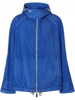 Куртка с капюшоном и воротником-воронкой Burberry. Цвет: синий