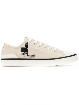 Теннисные кроссовки с принтом логотипа Isabel Marant. Цвет: нейтральные цвета