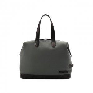 Текстильная дорожная сумка Brioni. Цвет: зелёный