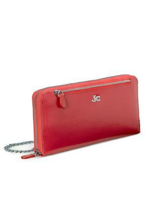 Портмоне J&C JACKYCELINE. Цвет: красный