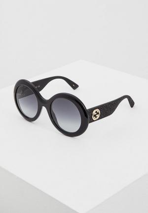 Очки солнцезащитные Gucci GG0101S001. Цвет: черный