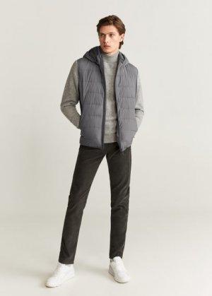 Стеганый ультралегкий жилет - Gorryv Mango. Цвет: меланжевый средний серый