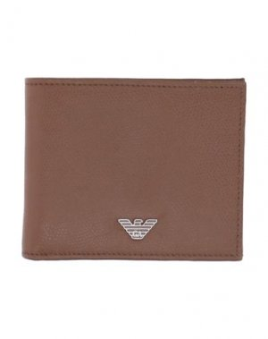 Бумажник EMPORIO ARMANI. Цвет: коричневый