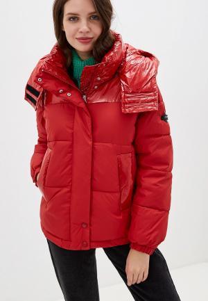 Куртка утепленная Clasna. Цвет: красный