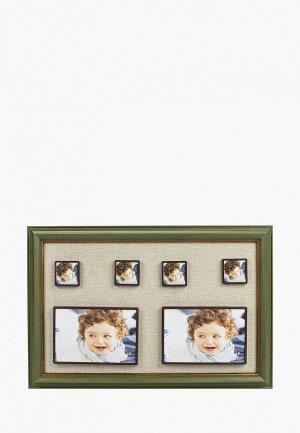 Фоторамка Русские подарки. Цвет: зеленый