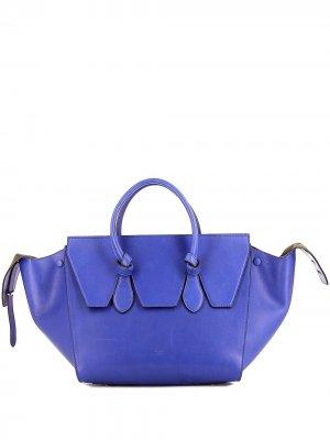 Сумка Tie Bag среднего размера Céline Pre-Owned. Цвет: синий