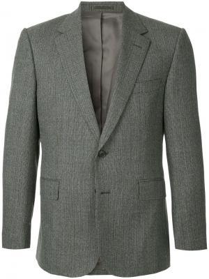 Formal fitted blazer Gieves & Hawkes. Цвет: серый