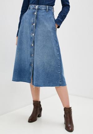 Юбка джинсовая Liu Jo. Цвет: голубой