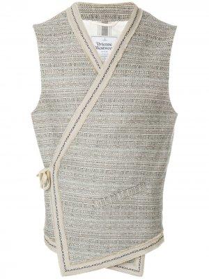 Жилет с запахом и завязкой на боку Vivienne Westwood Anglomania. Цвет: нейтральные цвета