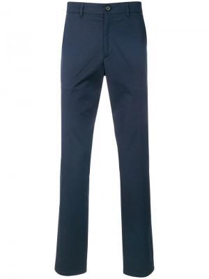 Классические брюки чинос Prada. Цвет: синий