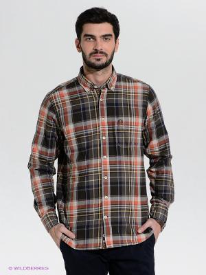 Рубашка Claudio Campione. Цвет: серый, терракотовый, светло-серый