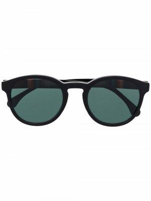 Солнцезащитные очки Deeley в круглой оправе PAUL SMITH. Цвет: черный