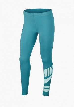 Леггинсы Nike Sportswear Girls Graphic Leggings. Цвет: бирюзовый