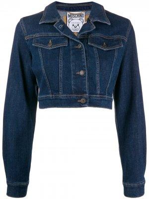 Джинсовая куртка с вышивкой Teddy Bear Moschino