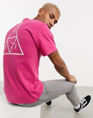 Розовая футболка Essentials-Розовый HUF