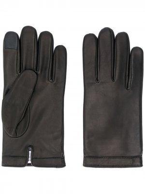 Перчатки с декоративной строчкой Calvin Klein. Цвет: черный