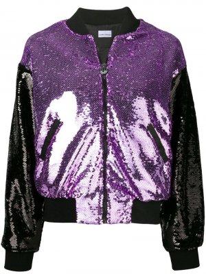 Куртка-бомбер с пайетками Chiara Ferragni. Цвет: розовый