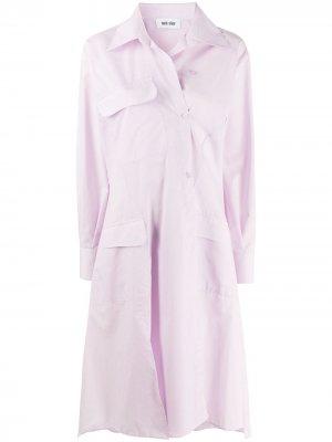 Расклешенное платье-рубашка Each X Other. Цвет: фиолетовый