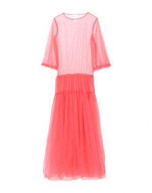 Длинное платье GEORGE J. LOVE. Цвет: коралловый