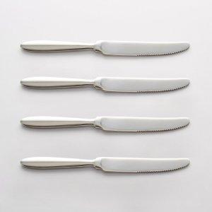 Комплект из 4 ножей LaRedoute. Цвет: серый