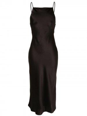 Платье Antonelli с открытой спиной CAMILLA AND MARC. Цвет: черный