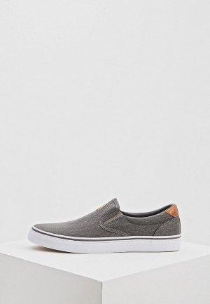 Слипоны Polo Ralph Lauren. Цвет: серый