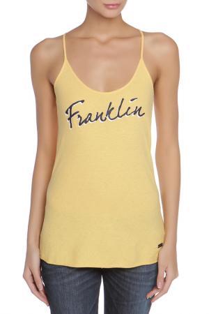 Майка FRANKLIN & MARSHALL. Цвет: желтый