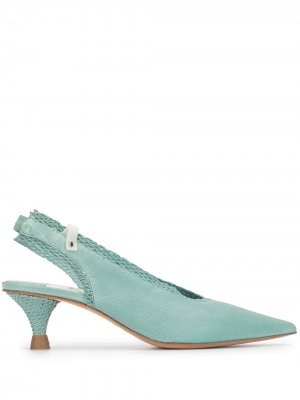 Туфли на низком каблуке с ремешком пятке Premiata. Цвет: синий