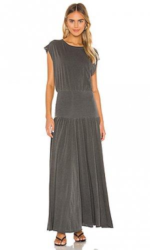 Платье миди alice NSF. Цвет: уголь