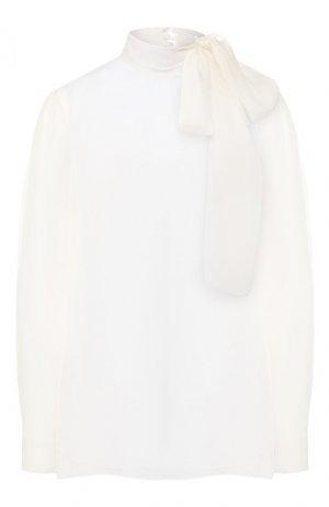 Блузка из смеси вискозы и шелка Valentino. Цвет: бежевый